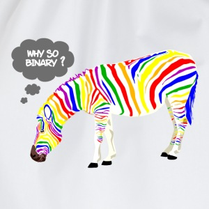 Rainbow Zebra T-Shirts - Turnbeutel