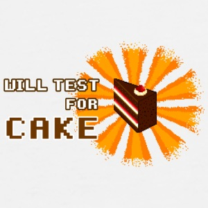 White will test for cake Mugs & Drinkware - Men's Premium T-Shirt