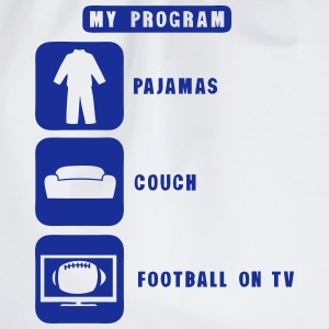 football tv program pajamas couch 2602 Manches longues - Sac de sport léger
