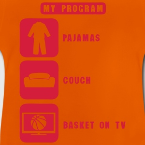 Basketball TV Programm Couch-Pyjamas 2602 T-Shirts - Baby T-Shirt
