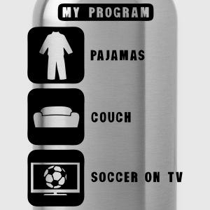 soccer football tv program pajamas couch Tee shirts - Gourde