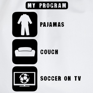 soccer football tv program pajamas couch Tee shirts - Sac de sport léger