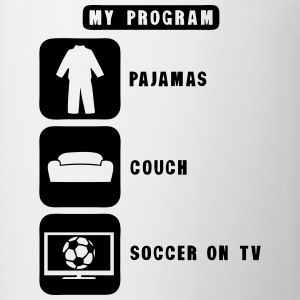 soccer football tv program pajamas couch Tee shirts - Tasse