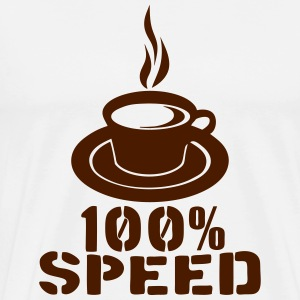 100 speed tasse cafe coffee cup Sportbekleidung - Männer Premium T-Shirt