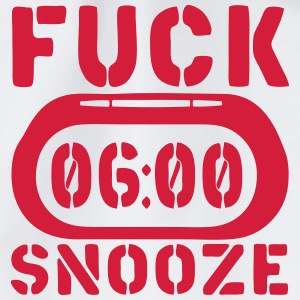 clock fuck snooze Tops - Drawstring Bag