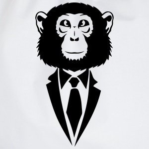 monkey tie suit _2502 Hoodies & Sweatshirts - Drawstring Bag
