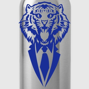 tiger tie costume suit T-Shirts - Water Bottle
