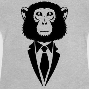 monkey tie suit _2502 Shirts - Baby T-Shirt