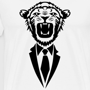 lion cravate costume tie 2502 Tabliers - T-shirt Premium Homme