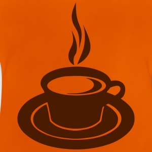 Cup hot smoked coffee 2502 Shirts - Baby T-Shirt
