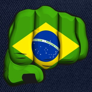 Brazil clenched fist flag Long Sleeve Shirts - Snapback Cap