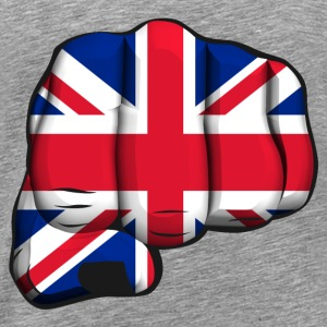 English clenched fist flag Long sleeve shirts - Men's Premium T-Shirt