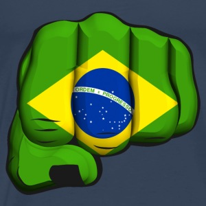 Brazil clenched fist flag Tops - Men's Premium T-Shirt