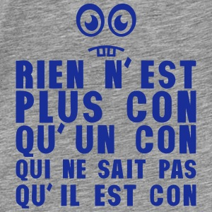 rien plus con sait pas smiley bete Sweat-shirts - T-shirt Premium Homme