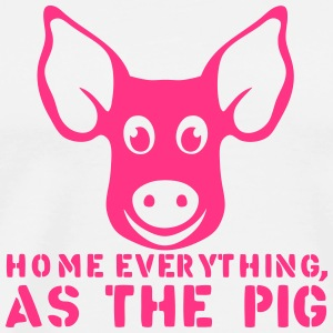home everything as the pig citation Tabliers - T-shirt Premium Homme
