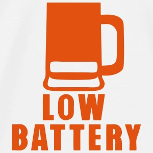 Battery low beer alcohol humor Tops - Men's Premium T-Shirt