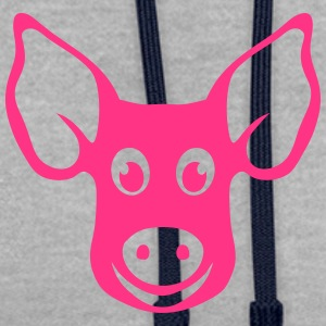 cochon tete pig dessin 2202 Tee shirts - Sweat-shirt contraste