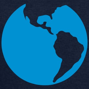 globe planete terre earth bleue Tee shirts - Sweat-shirt Homme Stanley & Stella