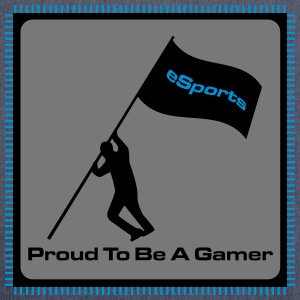 Proud To Be A Gamer - eSports - Schultertasche aus Recycling-Material
