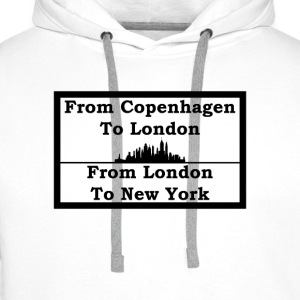 From Copenhagen To London - Herre Premium hættetrøje