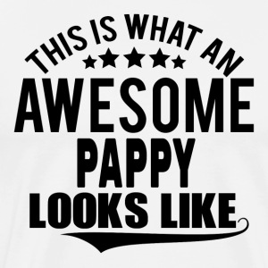 THIS IS WHAT AN AWESOME PAPPY LOOKS LIKE Long sleeve shirts - Men's Premium T-Shirt