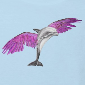 Fliegender Delfin / Flying Dolphin pink Baby Bodys - Kinder Bio-T-Shirt