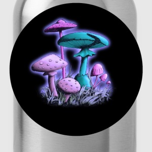Mushrooms (Purple-Blue Mix) T-Shirts - Trinkflasche
