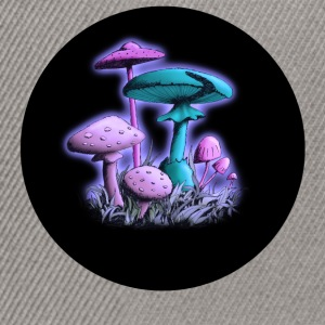 Mushrooms (Purple-Blue Mix) T-Shirts - Snapback Cap