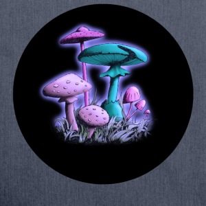 Mushrooms (Purple-Blue Mix) T-Shirts - Schultertasche aus Recycling-Material