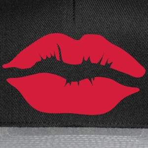 Kissing mouth lip 11022 1102 Long sleeve shirts - Snapback Cap