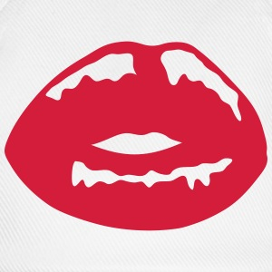 Kissing mouth lip 11022 T-Shirts - Baseball Cap