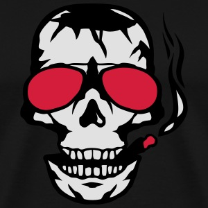 Skull sun cigar smoker glasses  Aprons - Men's Premium T-Shirt