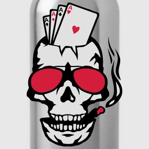 Skull card poker as carrera glasse T-Shirts - Water Bottle