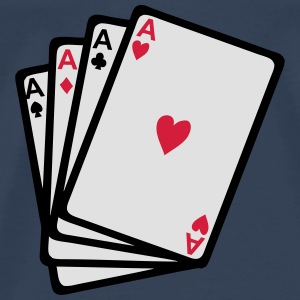 Card games poker as square 902 Tops - Men's Premium T-Shirt