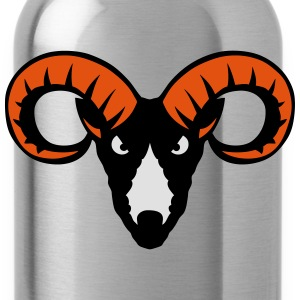 Capricorn beast animal head 9023 T-Shirts - Water Bottle