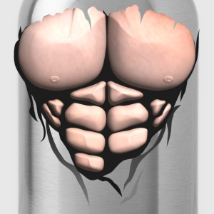 Torso muscle body bodybuilder abdominal T-Shirts - Water Bottle