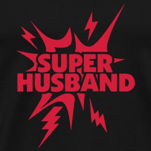 super husband Lightning thunder 28 Long sleeve shirts - Men's Premium T-Shirt