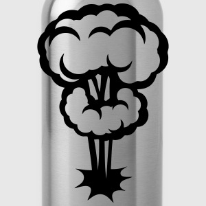 Explosion mushroom nuclear drawing 30 Shirts - Water Bottle