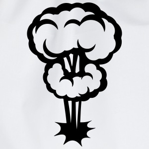 Explosion mushroom nuclear drawing 30 Long sleeve shirts - Drawstring Bag
