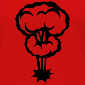 Explosion mushroom nuclear drawing 30 Tops - Women's Premium Longsleeve Shirt