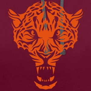Leopards head super drawing 3022 T-Shirts - Contrast Colour Hoodie