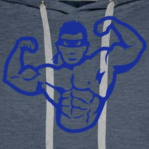 Bodybuilder mask muscular hero T-Shirts - Men's Premium Hoodie