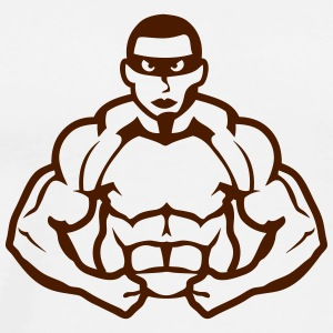 Bodybuilder mask heros muscle muscular Sports wear - Men's Premium T-Shirt