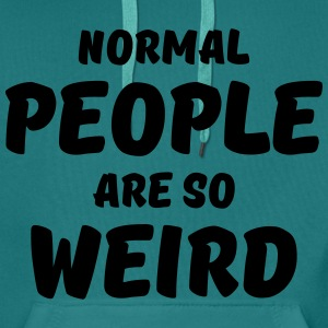 Normal people are so weird Tee shirts - Sweat-shirt à capuche Premium pour hommes