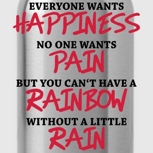 Everyone wants happiness T-shirts - Vattenflaska