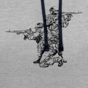 Special Forces T-Shirts - Kontrast-Hoodie