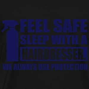 Feel safe sleep with a hairdresser Débardeurs - T-shirt Premium Homme