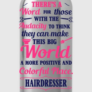 Big colorful world with hairdresser T-shirts - Drinkfles