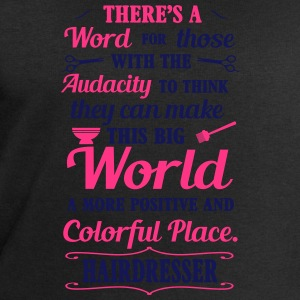 Big colorful world with hairdresser T-Shirts - Men's Sweatshirt by Stanley & Stella