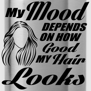 My mood depends on my hair Tops - Drinkfles
